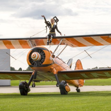 Breitling Wingwalker, Sywell Classic Pistons and Props show Sept 23 - 24 2017, Sywell Aerodrome, Northamptonshire, England