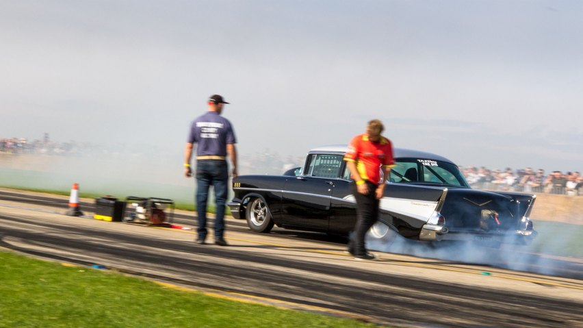 Burnout, Chevrolet Bel Air, Sywell Classic