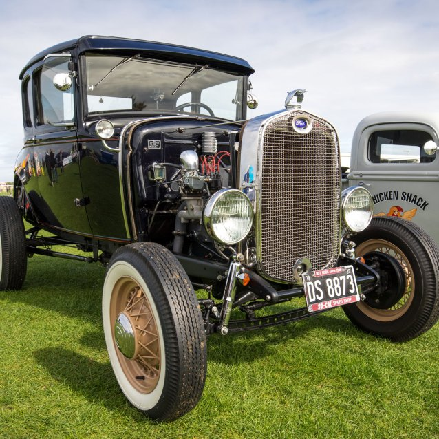 Ford, Hot rod and dragster racing, Sywell Classic Pistons and Props show Sept 23 - 24 2017, Sywell Aerodrome, Northamptonshire, England