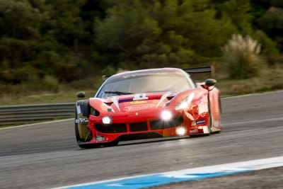 Ferrari F488 GT3 with damage to front, VdeV Endurance Series