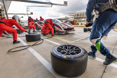 Pit stop, Red River Racing Ferrari 488 GTE EVO. WEC 4 Hours of Silverstone 2019