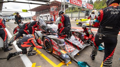 Rebellion Racing LMP1 pit stop. Friday practice, WEC Total 6 Hours of Spa-Francorchamps