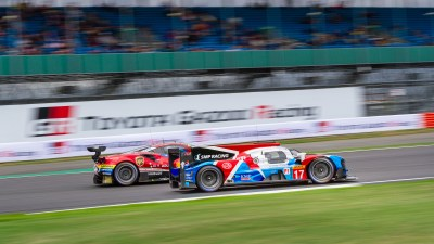 SMP Racing LMP1 overtakes a Ferrari. WEC 6 Hours of Silverstone 2018