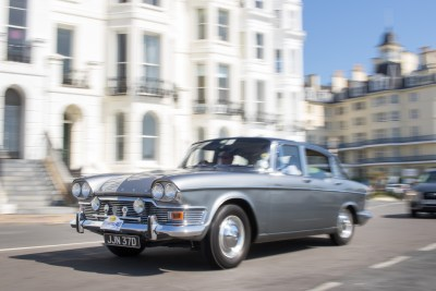 1966 Humber Super Snipe during a parade of classic cars along the seafront at Eastbourne, Sussex, England.