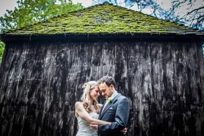 Lains Barn Wedding Couple