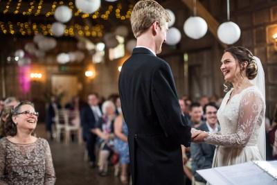 Wedding Ceremony In Oxfordshire Barn