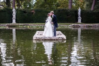 Wedding Couple At A Lake