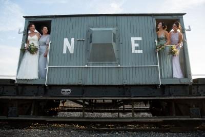 Railway Carriage Bride Bridesmaids