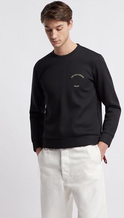 Armani-white-jumper