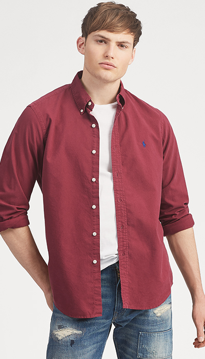 Polo-maroon-open-shirt