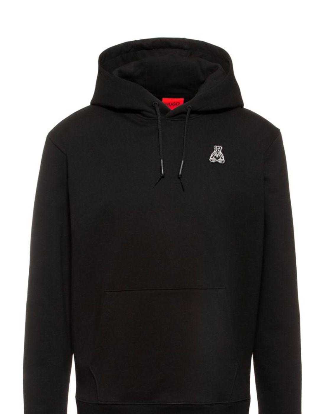 hugo boss thick black hoodie unisex