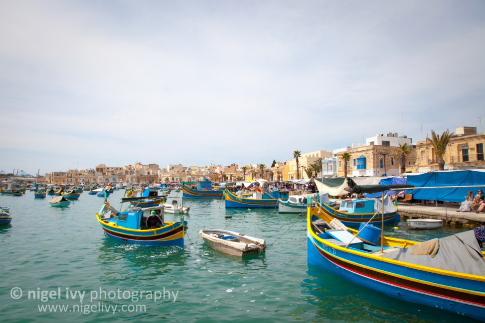 Nigel-Ivy-Photography-Sunny-Maltese-harbour-with-cute-boats