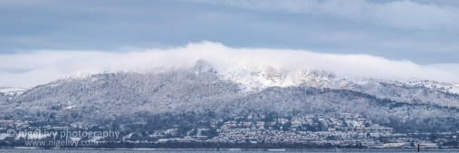 Had quite a bit of fun photographing the snow this weekend. Here's a panorama of Cave Hill in Belfast.