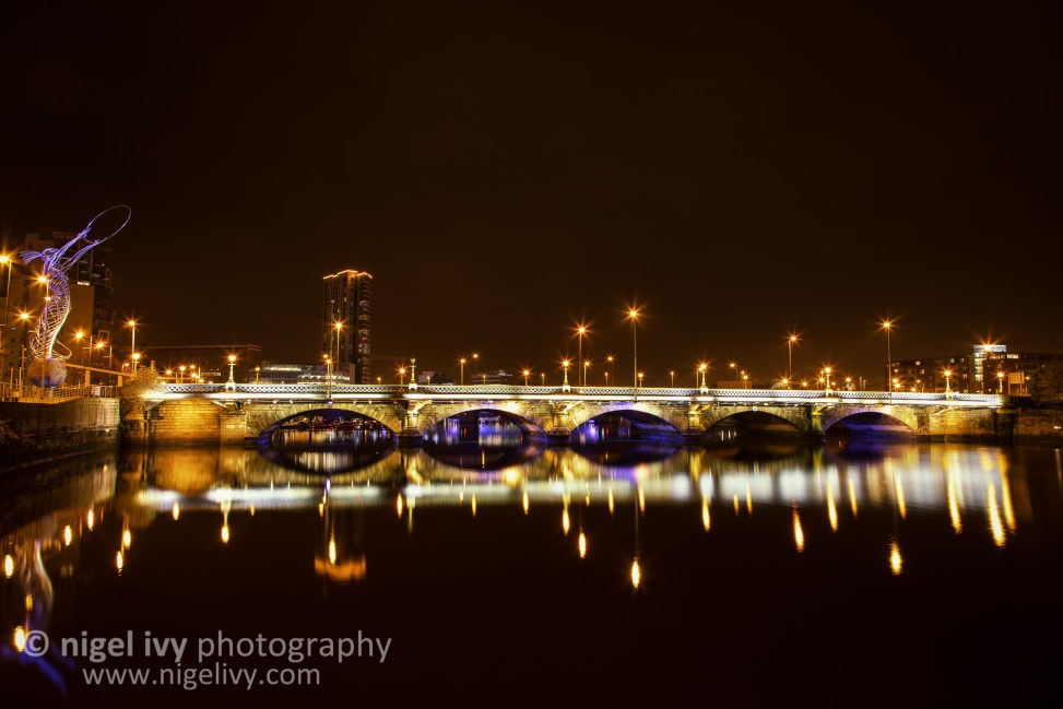 A shot from this evening of Queens Bridge in the centre of Belfast.