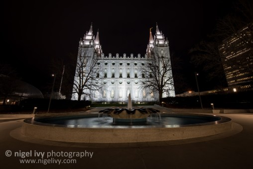 Here's a shot of the Salt Lake City Temple that I took the first morning I was here.