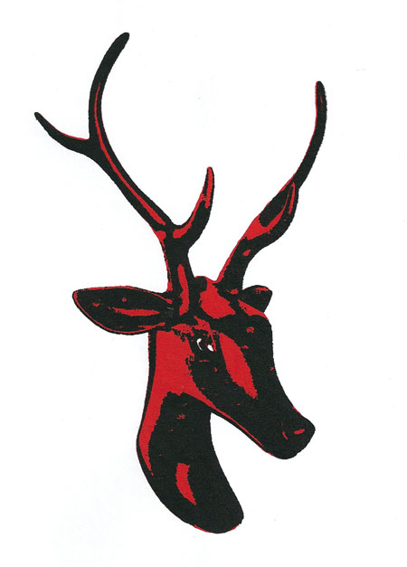 Screenprinted Reindeer 2008