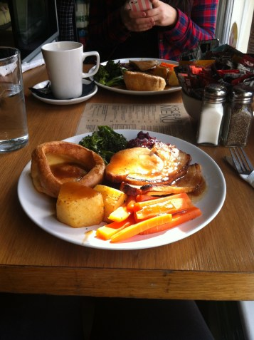 After a day at the library we definitely deserved a hearty roast at a local cafe...