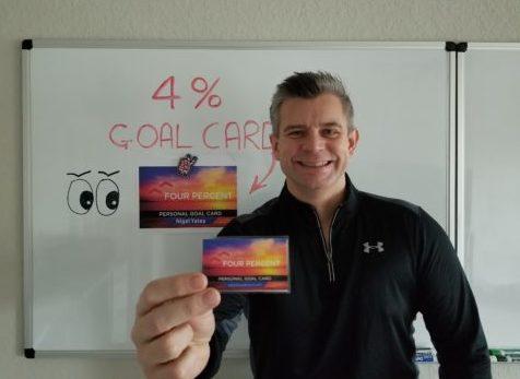 Nigel Yates Goal Card - Four Percent Challenge