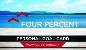 Four Percent Challenge Review - Goal card 3