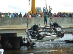 Image result for One dead as vehicle plunges into Lagos river