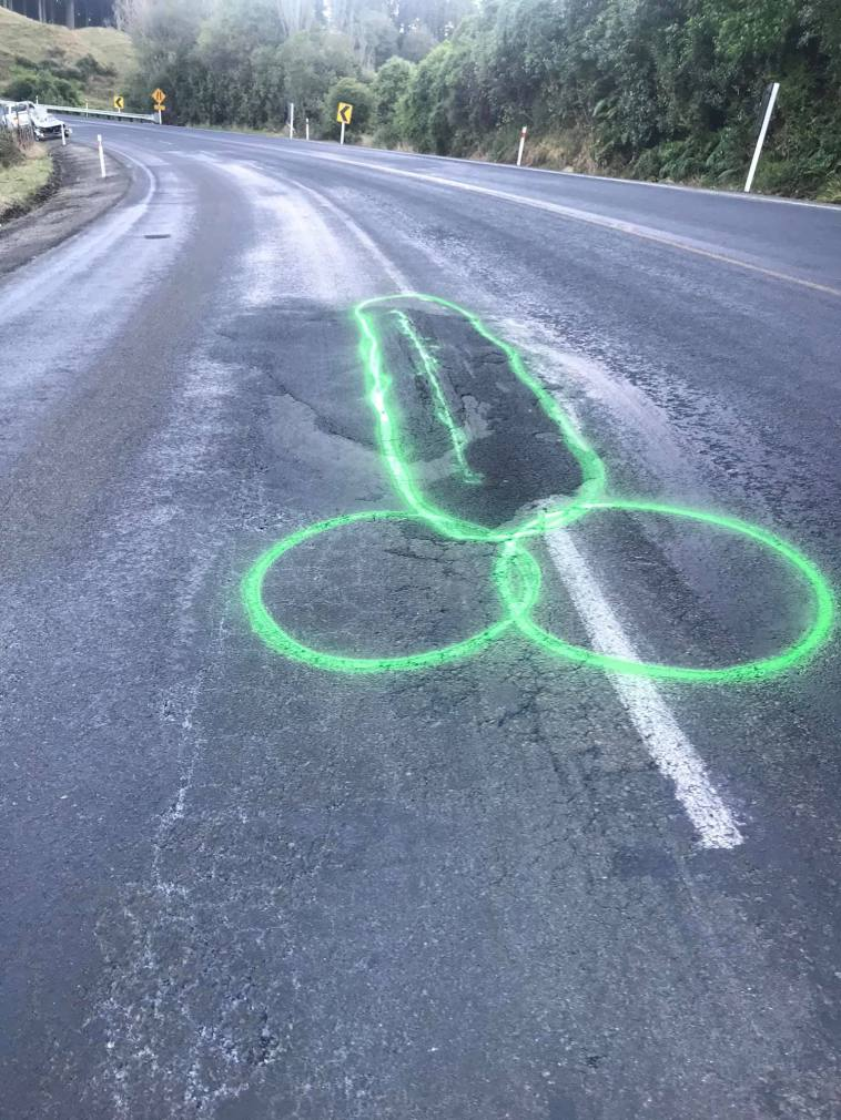 Meet man who draws penises on potholes to get them fixed faster
