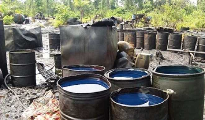 Military arrests oil thieves, destroys illegal refineries