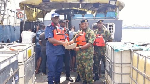 Navy arrests impostors escorting oil vessel