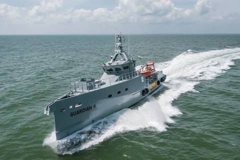 Nigerian Navy takes delivery of Sentinel patrol Boats