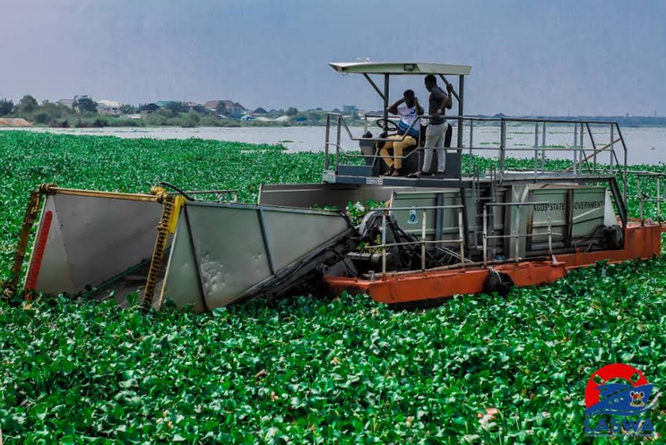 LASWA commences clearing water hyacinth from waterways