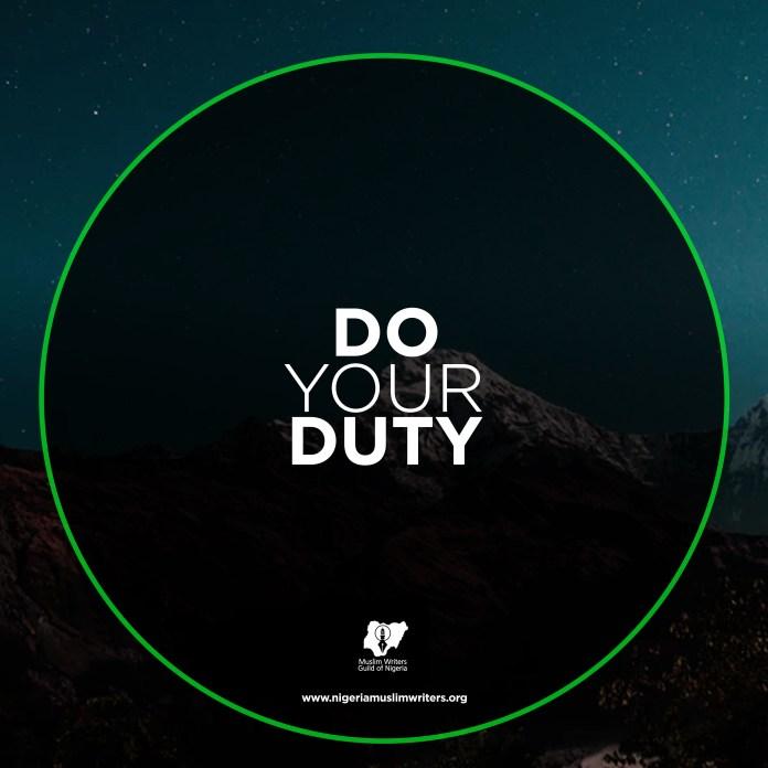Do Your Duty