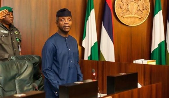 Osinbajo Receives Former British Foreign Secretary