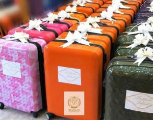 Travel Box Given As Souvenirs At Fatima Dangote and Jamil Abubakar's Wedding [See Photos]