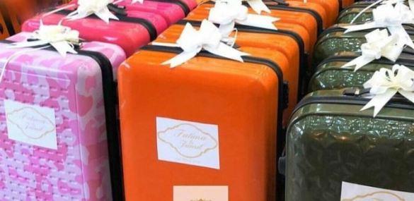 Travel Box Given As Souvenirs At Fatima Dangote and Jamil Abubakar's Wedding [See Photos]