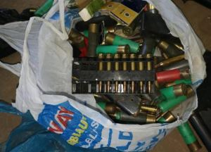 Cleaner Finds Guns, Ammunition Hidden Inside A Toilet In A Primary School. [Photos]