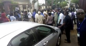 Police Escorting Suspended NHIS Boss Teargas Protesting Staff