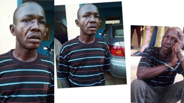 Image result for The Ondo State Police Command on Tuesday paraded a murder suspect, Deji Adenuga, for allegedly setting eight members of his girlfriend's family ablaze