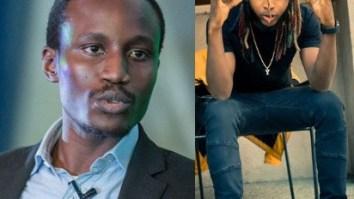 Rapper Yung6ix and Tolu Ogunlesi
