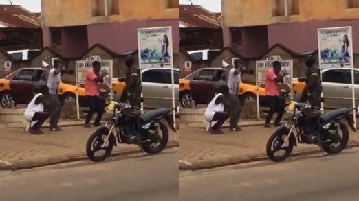 Ghanaian man slaps soldier