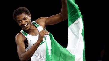 Odunayo Adekuoroye, African wrestling champion,