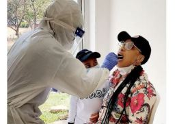 Photo Of Tonto Dikeh Undergoing A Coronavirus Test Goes Viral