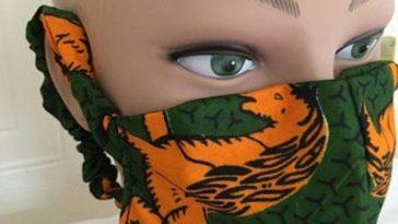 ankara face mask