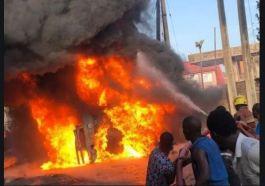 Elebu filling station fire