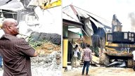 Governor Wike Demolishes Two Hotels For Violating Lockdown Order In Rivers