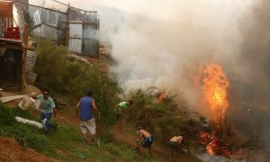 Chile , Chile Forest fire, Fire burning
