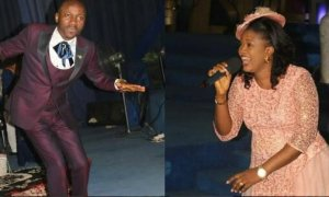 Apostle Suleman & Wife, Lizzy Dancing Happily In Church