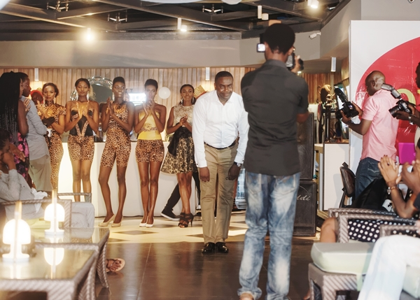 Frank Osodi shows appreciation to the jubilant audience at LoudNProudLive Luxury Edition