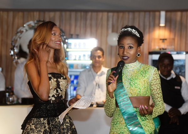 Miss Nigeria addresses the audience at LoudNProudLive Luxury Edition