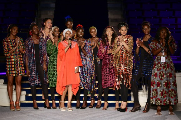 Ronke-Ademiluyi-with-models-on-Moremi-Collection
