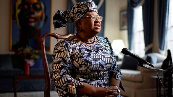 World Trade Organization (WTO) President Ngozi Okonjo-Iweala speaks during an interview in Potomac, Maryland.