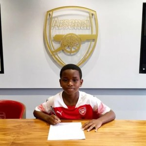 Jayden Adetiba, 9-Year-Old Nigerian Wonder Kid Signed By Arsenal